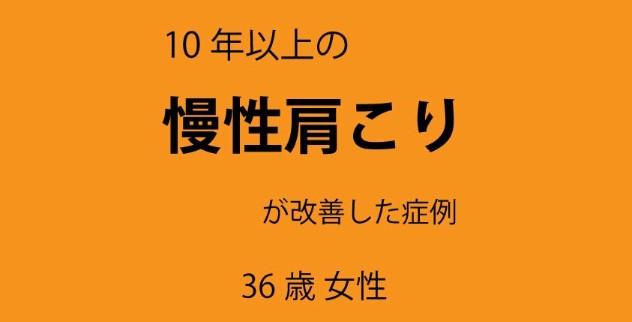 栃木市 10年以上の慢性肩こり、頭痛、吐き気が改善|症例報告