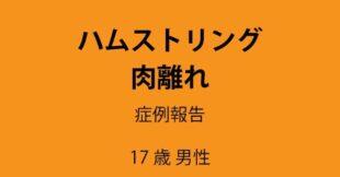 サムネイル:佐野市 ハムストリング肉離れ後の改善が思わしくない陸上選手 症例報告